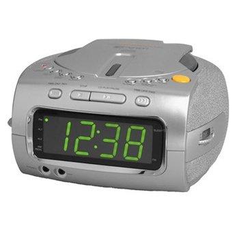 "EMERSON CKD1100 CD-R/RW Stereo Clock Radio With Dual Alarms And Jumbo 1.2"" Green LED Display"