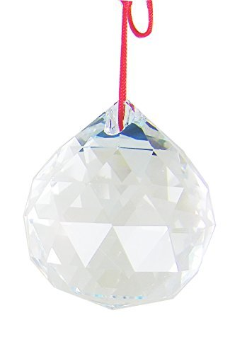 Amlong Crystal Clear Suncatcher Crystal Ball Prisms Feng Shui With Gift Box