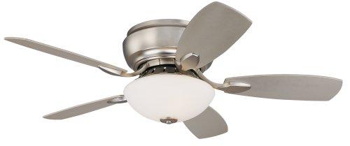 44 Casa Habitat™ Brushed Steel Hugger Ceiling Fan