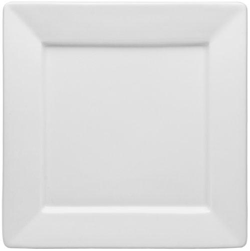 HIC Porcelain Square Rim Square Bread Plate 6.5-nch