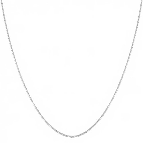 Sterling Silver 1.2mm Round Box Chain (14, 16, 18, 20, 22, 24, 30 or 36 inch)