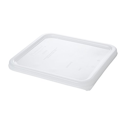 Rubbermaid Commercial 6509 8-3/4 Length x 8.3 Width, White Color, Linear Low Density Polyethylene Lid for Space Saving Container