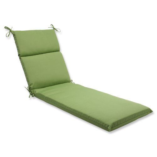 Pillow Perfect Chaise Lounge Cushion with Green Sunbrella Fabric