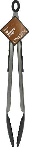 Oneida 12-Inch Locking Tongs, Nylon, Stainless Steel/Black