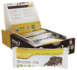 Organic Food Bar Chocolate Chip - Box - Organic Food Bar - 12 - Bar