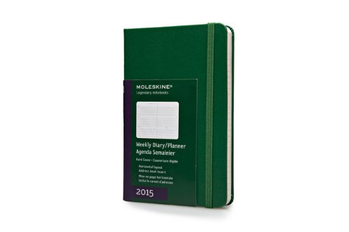 Moleskine 2015 Weekly Planner, Horizontal, 12 Month, Pocket, Oxide Green, Hard Cover (3.5 x 5.5)