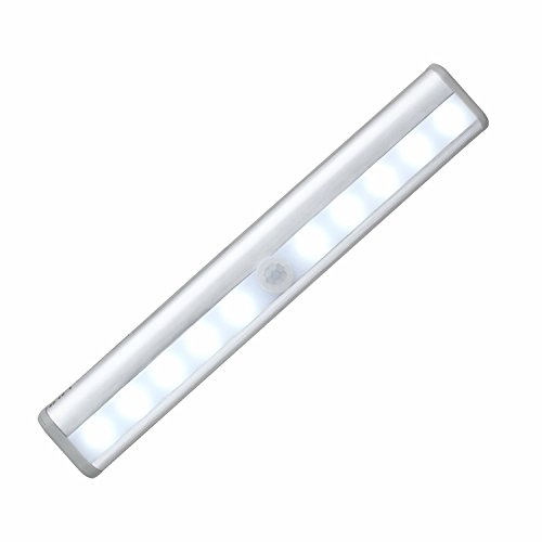 Wireless LED Motion Activated Sensor Light Bar Automatic Stick-on Anyplace with Magnetic Strip