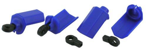 RPM Shock Shaft Guards for Traxxas and Durango 1/10 Scale Shocks, Blue