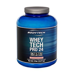 Bodytech - Whey Tech Pro 24 Strawberries & Cream, 5 lb powder