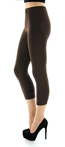 D&K Monarchy Women's Seamless Capri Thin Leggings
