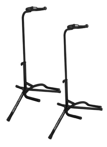 Ultimate Support JS-TG100 Tubular Guitar Stand Lite - Coated & Covered in Protective Rubber Where your Guitar Contacts the Stand to Protect its Finish - 2 Pack