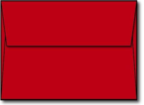 Red A6 (4 3/4 x 6 1/2) Envelopes - 50 Envelopes - Desktop Publishing Supplies™ Brand Envelopes
