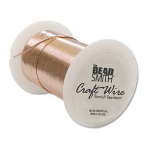 Tarnish Resistant Copper Wire 28 Gauge 40 Yard (36.5m) Copper Color 42696