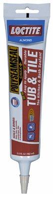 Loctite 1509360 5.5-Ounce Tube Polyseamseal Tub and Tile Adhesive Caulk, Clear