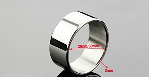 T-explorer Sexy Toys Heavy Duty Plain Stainless Steel Cock Ring 1.18 Inch Ring