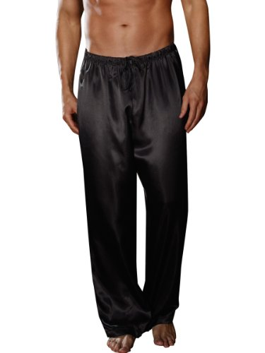 Dreamgirl Unisex Pajama Pant, Black, Large