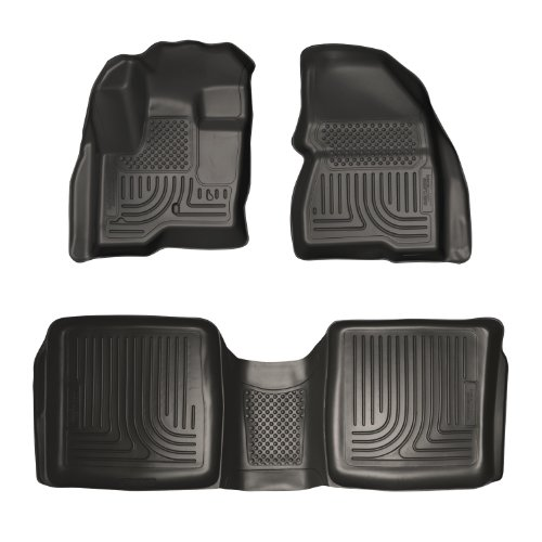 Husky Liners Custom Fit WeatherBeater Front and Second Seat Floor Liner Set for Select Ford Flex/Lincoln MKX Models (Black)