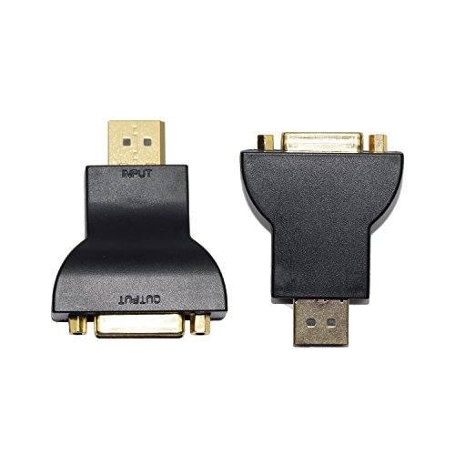 YAMAY(TM) DisplayPort (DP) to DVI Female Vedio Adapter Cable Converter Connector Gold Plated Black