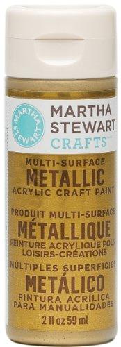 Martha Stewart 32103 2-Ounce Acrylic Metallic Paint, Gold