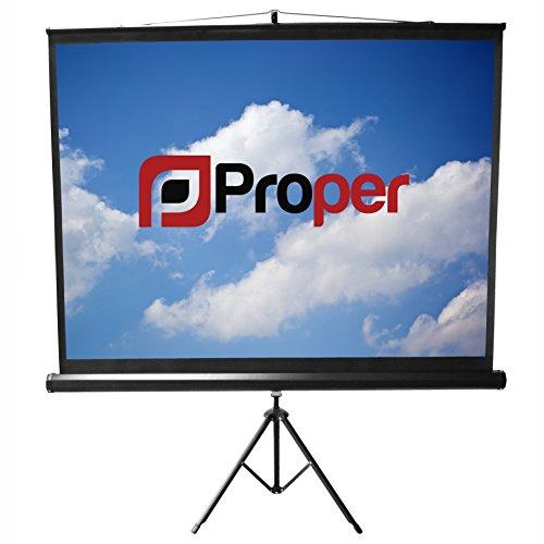 Proper 200x112cm Tripod Projector Screen - White