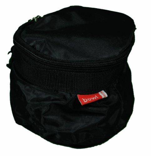 Bergan Black Portable Travel Folding Dog Food Water Bowl