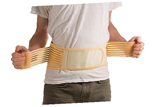 Ziraki (Tm) Adjustable Lumbar Lower Back Support Brace -Exercise Belly Body Shaper Slimming Tummy Waist Trimmer Belt For Lose Weight Trainer -(Beige, L)