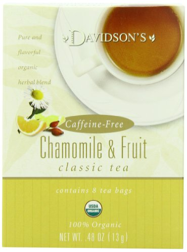 Davidson's Tea Chamomile with Fruit, 8-Count Tea Bags (Pack of 12)
