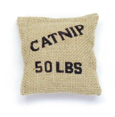 Coastal Cat Toy Catnip Burlap Bag