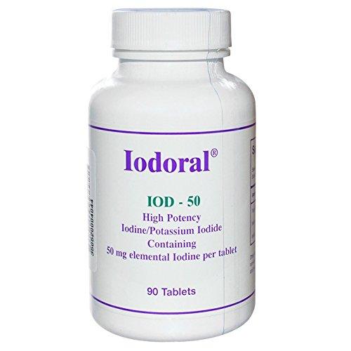 Optimox Corporation, Iodoral, 50 mg, 90 Tablets