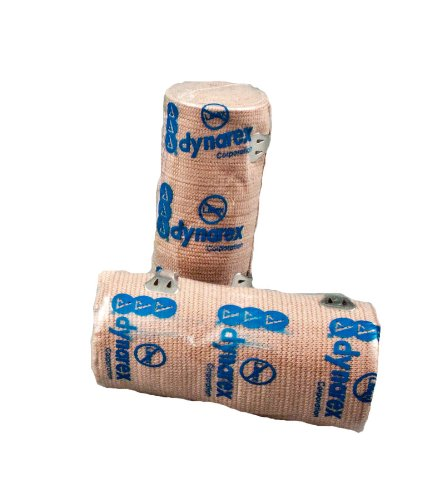 First Voice TS-3664 Latex Free Elastic Bandage, 4-1/2 yds Length x 4 Width (Pack of 15)