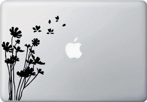Flowers in the Wind - Macbook or Laptop Vinyl Decal Sticker