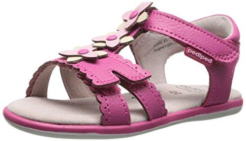 pediped Sidra Flex Dress Sandal (Toddler/Little Kid),Fuchsia,31 EU (13-13.5 M US Little Kid)