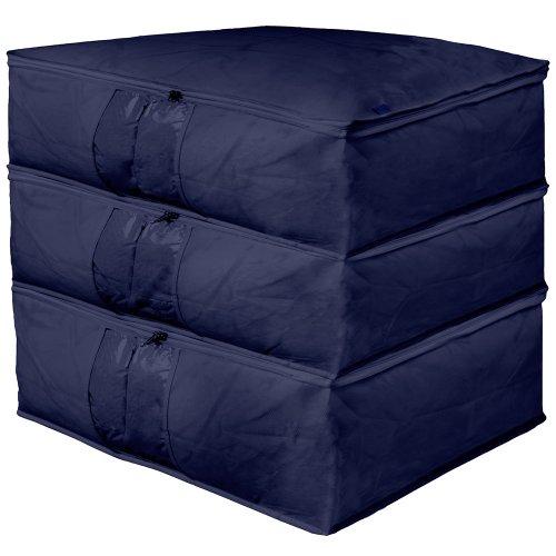 JoJo Maman Bébé B1911 Under-Bed Storage Boxes Navy Blue Set of 3