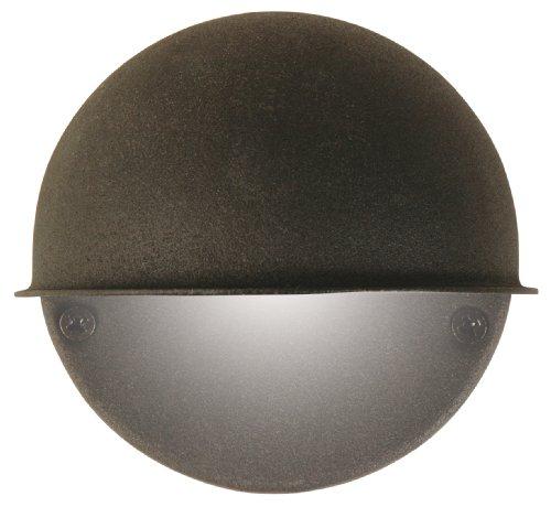 Moonrays 95732 Low Voltage Round Metal Surface Light with 7-Watt Bulb, Cast Black