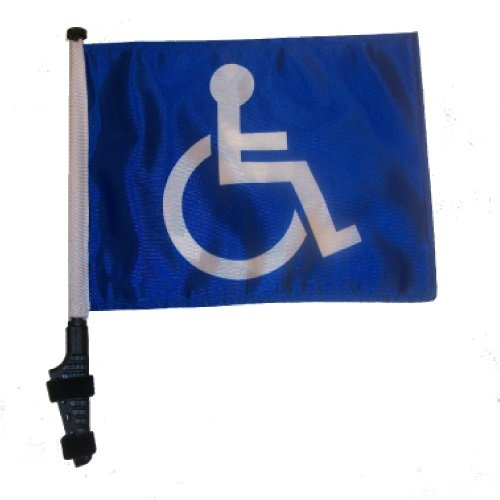 Handicap Golf Cart Flag with SSP Flags EZ On & Off Bracket