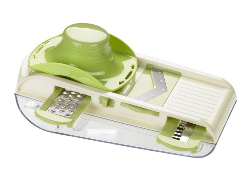 Lurch All In One Multi Purpose Mandoline V-Slicer Set With Container - Kitchen Gadgets - Food Slicer, Vegetable Slicer, Crinkle Cutter, Grater, Julienne Cutter, Fruit Slicer, Onion Dicer And More