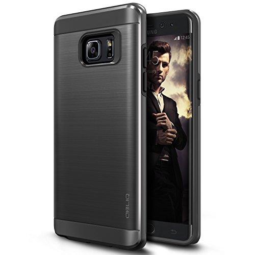 Galaxy Note 7 Case, OBLIQ [Slim Meta][Black Titanium][MILITARY GRADE CERTIFIED] Slim Metallic Brushed Premium Dual Layer Protection Cover for Samsung Galaxy Note 7 (2016)