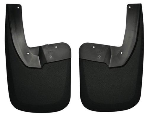 Husky Liners 57161 Custom Molded Mud Guards; Black; Rear;