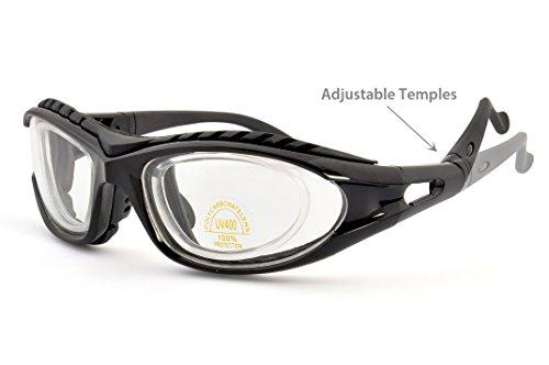 SugarFox Adjustable Onion Goggles - Tear Resistant Airtight technology - Professional Grade - Black