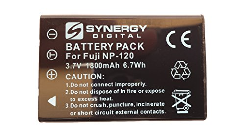 Synergy Digital NP-120 Lithium-Ion Battery - Ultra High Capacity (1800 mAh) - replacement for Fuji NP-120, Pentax D-L17 & Contax BP-1500