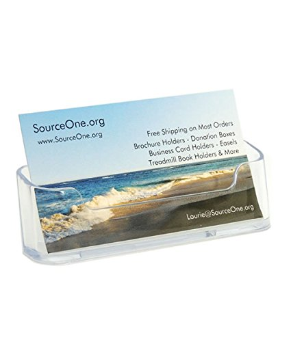 Source One Clear Acrylic Business Card Holder (BC-1)