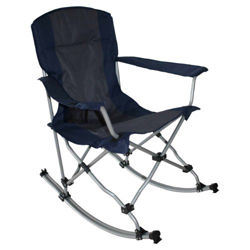 Set of 4: MAC Sports Outdoor Folding Rocking Chair in Blue