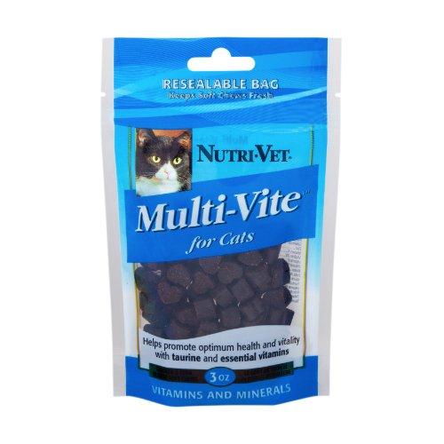 Nutri-Vet Multi-Vite Soft Chew Supplement for Cats, 3-Ounce