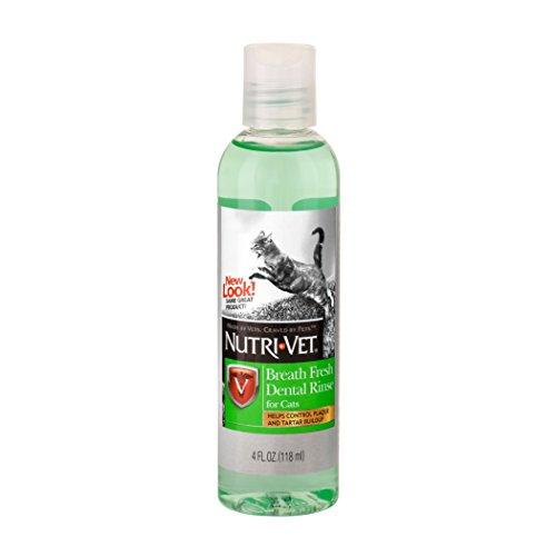 Nutri-Vet Breath Fresh Dental Rinse for Cats, 4-Ounce