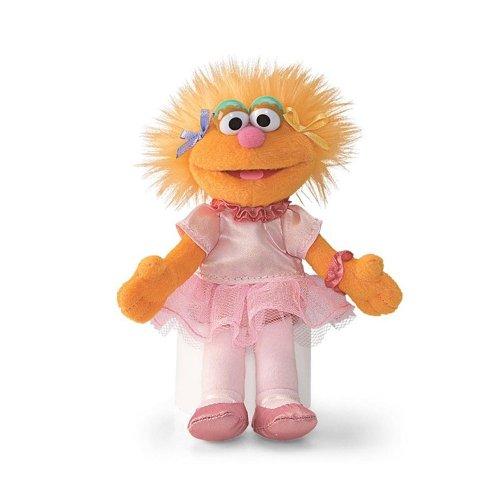 Zoe Ballerina Princess 6 Sesame Street Plush Beanbag Doll by Gund