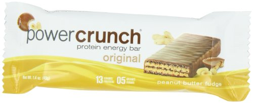 Power Crunch Peanut Butter Fudge Energy Bar, 12 Count