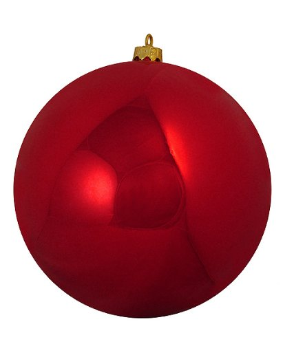 Shiny Red Hot Commercial Shatterproof Christmas Ball Ornament 10 (250mm)
