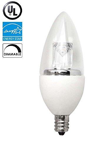 Triangle Bulbs T95035-1 - Triangle bulbs LED Torpedo - 40 Watt Equivalent (5W) Soft White (2700K) Dimmable Candelabra Base Light Bulb, UL Listed, Energy Star Certified