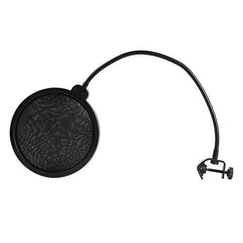 niceEshop(TM) Studio Microphone Mic Wind Screen Pop Filter/ Swivel Mount / Mask Shied For Speaking Recording -Black