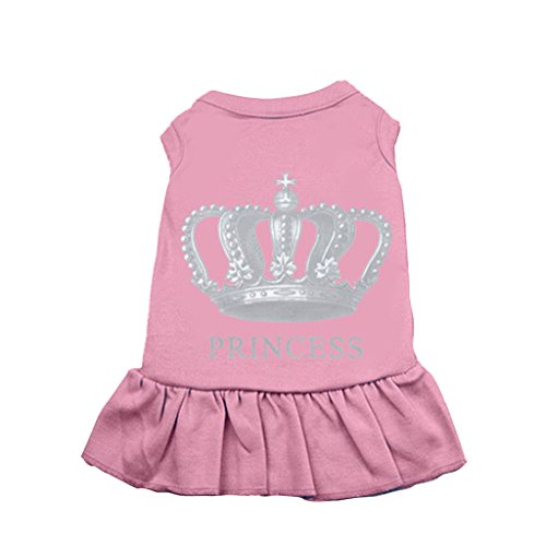 BINGPET BA1003 Girl Princess Pattern Simply Cute Doggie Dresses Party Puppy Skirt For Dogs, Pink S